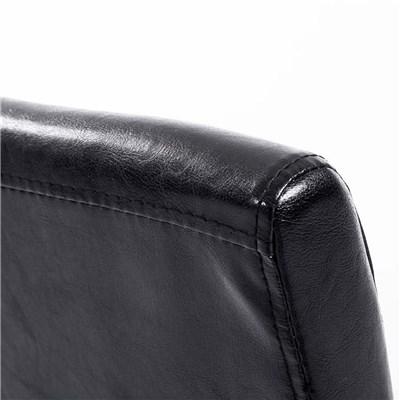 Lote 4 Sillas de Comedor CAPRI, Piel Negro y Patas Claras, Muy Cómodas y Resistentes