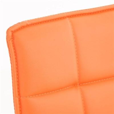 Lote de 6 sillas de Comedor o Cocina PESCARA PIEL, En Naranja, Altura Regulable