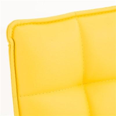 Lote de 6 sillas de Comedor o Cocina PESCARA PIEL, En Amarillo, Altura Regulable