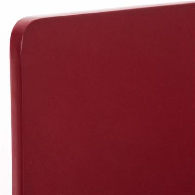 Lote de 4 Sillas de Cocina o Comedor LODI, en Madera color Rojo y Patas Metálicas