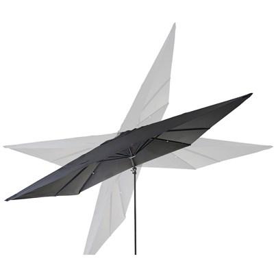 Sombrilla Aluminio POSEIDON, de 3 x 4 metros, Ajustable, Cruz de suelo Incluida, en Gris