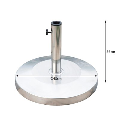 DEMO# Soporte Circular para Sombrilla ABAY, 48 cm de diámetro, de Acero Inoxidable