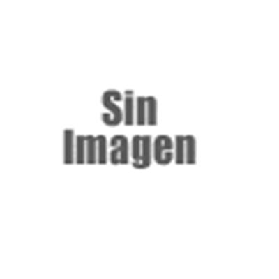 Mecedora Silla de madera M41, estructura en color roble y tapizado el piel color castaño