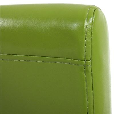 Lote 4 Sillas de Comedor LITAU, precioso Diseño, piel Verde y patas Oscuras