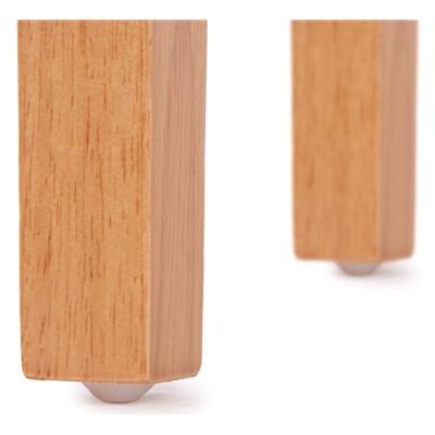 Precioso conjunto de 4 Sillas de Comedor DALI, Con Motivos, tela Gris y patas claras
