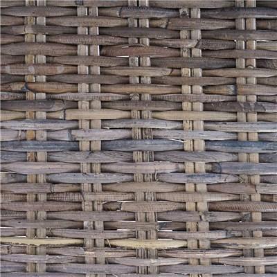 Lote 2 Sillas de Comedor LUCA, En Poly Rattan, Color Gris natural