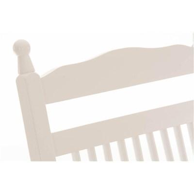Mecedora de Madera ALVA, en Color Blanco, Precioso Diseño