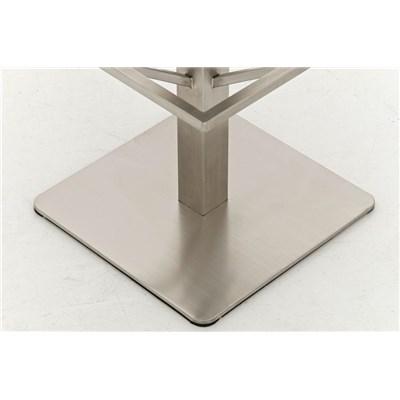 Taburete de Bar MARK 85 TELA, en acero inoxidable, altura asiento 85 cm, tapizado en tejido blanco