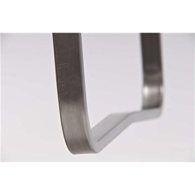 Taburete de Diseño Para Barra PARANA, En Piel Naranja y Estructura en Acero Inoxidable, Máxima Calidad