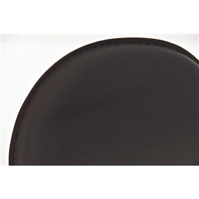 Taburete de Bar CANDELA, exclusivo diseño, ajustable en altura, en piel color marrón