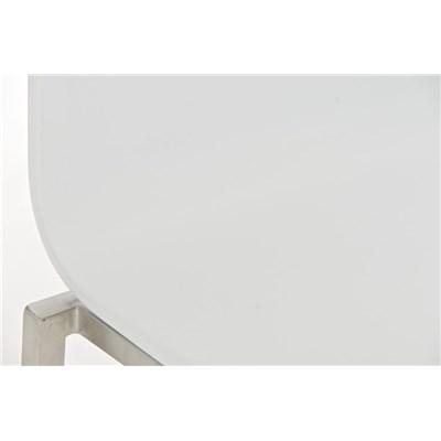 Taburete de Cocina o Bar MARTINA PRO, estructura en acero, asiento en madera blanco