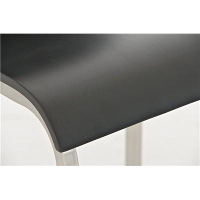 Taburete de Cocina o Bar MARTINA PRO, estructura en acero, asiento en madera negro
