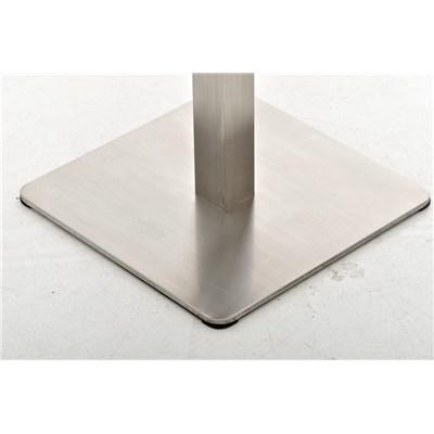 Taburete de Bar MARK 76 PIEL, en acero inoxidable, altura asiento 76cm, tapizado en piel crema