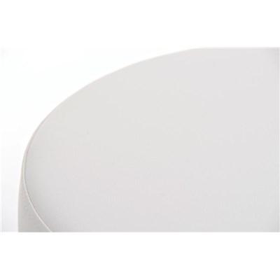 Taburete para Bar KARMON, Estructura en Acero Inoxidable, gran Calidad, tapizado en piel blanco