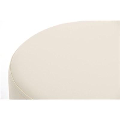 Taburete para Bar KARMON, Estructura en Acero Inoxidable, gran Calidad, tapizado en piel crema