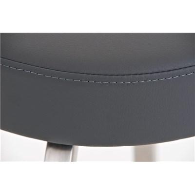 Taburete para Bar KARMON 85cm, Estructura en Acero Inoxidable, gran Calidad, tapizado en piel gris