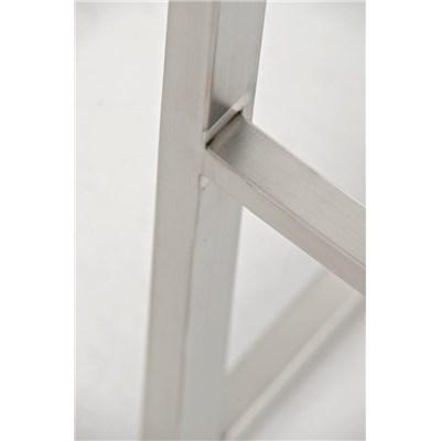 Taburete de Diseño Para Barra PARROT, En Piel Morado y Estructura en Acero Inoxidable, Gran Acolchado