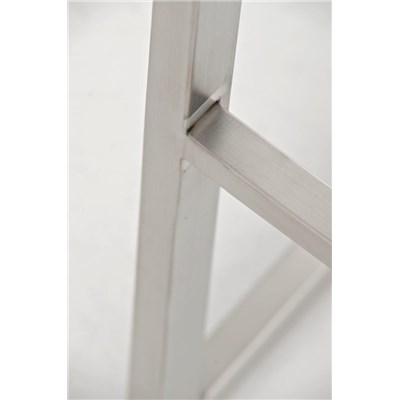 Taburete de Diseño Para Barra PARROT, En Piel Verde y Estructura en Acero Inoxidable, Gran Acolchado
