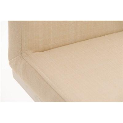Taburete de Diseño Para Barra PARANA, En Tela Crema y Estructura en Acero Inoxidable, Máxima Calidad