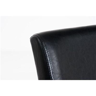 Lote 4 Sillas de Comedor CAPRI, Piel Negro y Patas Oscuras, Muy Cómodas y Resistentes