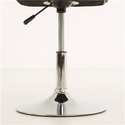 Lote de 4 sillas de Comedor o Cocina PESCARA PIEL, En Negro, Altura Regulable