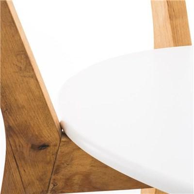 Silla de Comedor BARI, en Blanco, Estructura de Madera de Abedul