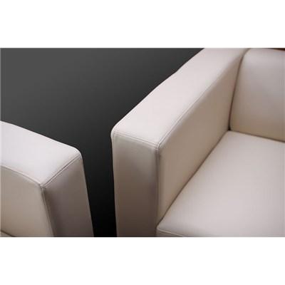 Conjunto Sofas LILLE 1 Sofa 3 Plazas + 1 Sofá 2 Plazas + 1 Sofá individual, en cuero rojo