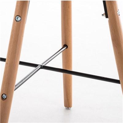 Lote de 4 Sillas de Comedor ALBATROS, en Tela Negra, Estructura de Madera color Natural