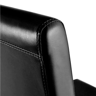 Lote 6 Sillas de Comedor LITAU, en piel color Negro y patas oscuras