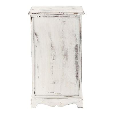 Cómoda mesita de noche de 63x35x29cm, estilo vintage color Blanco