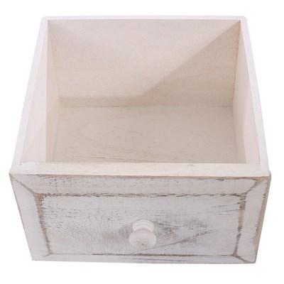 Armario cómoda 74x30x25cm, estilo antiguo color Blanco
