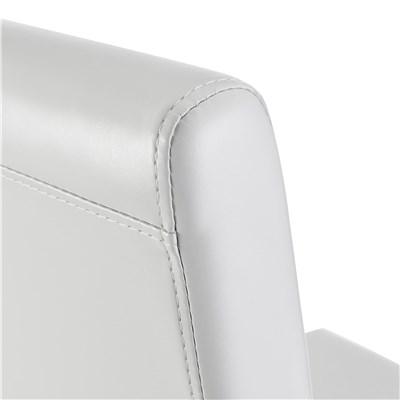 Conjunto 6 Sillas de Comedor LITAU, precioso diseño, Piel Blanca patas Oscuras