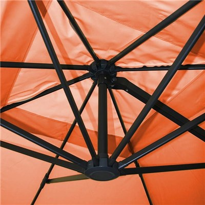 Sombrilla Aluminio IDRA, de 3 x 4 metros, Terracota, Ajustable, Cruz de suelo Incluida