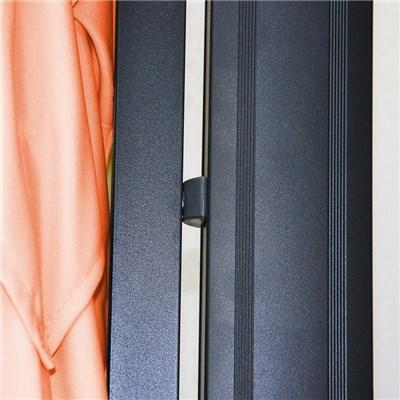 Sombrilla Aluminio APOLO, de 3,5 x 3,5 metros, Terracota, Ajustable, Cruz de suelo Incluida