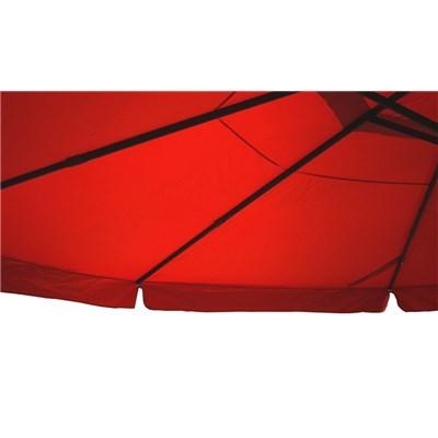 Sombrilla MISTY color Verde, 5 m Diámetro, Con base 4 módulos, Altura Ajustable