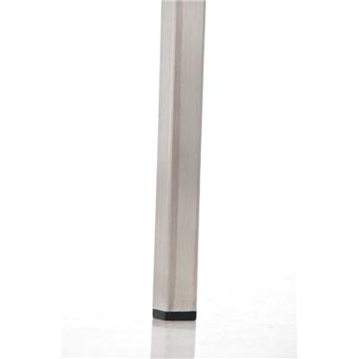 Taburete de Bar LINCON, estructura de acero inoxidable, muy resistente, en piel crema