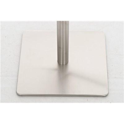 Taburete para Bar o Cocina EVA, estructura en acero, exclusivo diseño, altura ajustable, en piel blanco