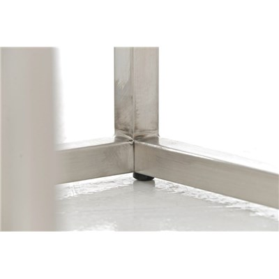 Taburete de Cocina o Bar ELSA PLUS, estructura en acero, asiento acolchado en tejido color blanco