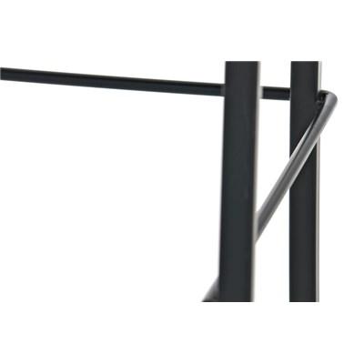 Taburete de Cocina o Bar MARTINA Tela, estructura metálica en negro, acolchado tapizado en tejido blanco