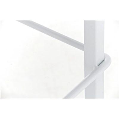 Taburete de Cocina o Bar MARTINA Tela, estructura metálica en blanco, acolchado tapizado en tejido gris oscuro