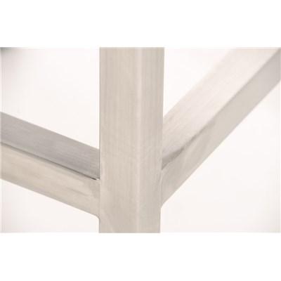 Taburete para Bar LUCIUS A, máxima calidad, estructura en acero, asiento 76cm, en piel azul