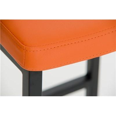 Taburete de Bar MARK 85 TELA, en acero inoxidable, altura asiento 85 cm, tapizado en tejido crema