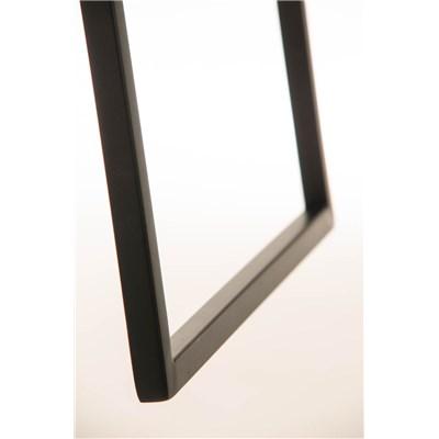 Taburete de Bar LAMA 78 Tela, estructura metálica en negro, diseño ergonómico, en tejido color marrón