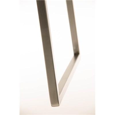 Taburete de Bar LAMA 85 Tela, estructura en acero, diseño ergonómico, en tejido color blanco