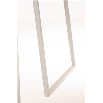 Taburete de Bar LAMA 78, estructura metálica en blanco, diseño ergonómico, en piel color negro