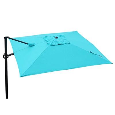 Sombrilla / Parasol TAHITI, de 3 x 3 metros, 100% Ajustable, Cruz de suelo Incluida, en Azul