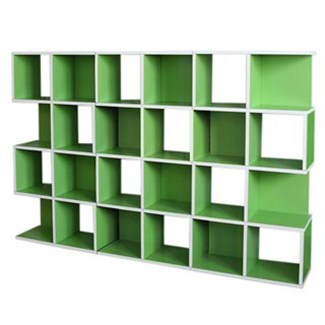 Set 3 Estanterías modulares M73, 124x187x28 cm Color Verde
