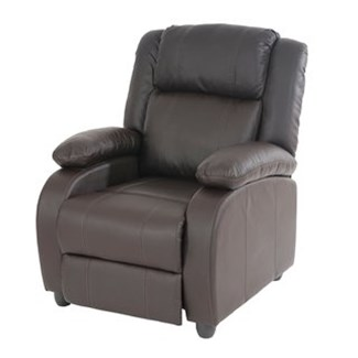 Sillon Relax Reclinable LINCON, Color Marrón, Gran acolchado y comodidad